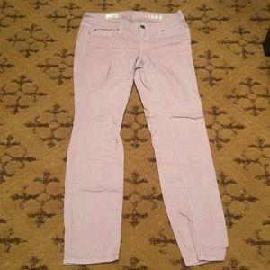 Gap 1969 mid rise lavender skinny jean